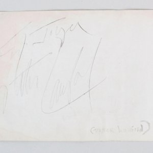 Peter Lawford Signed Album Page - COA JSA