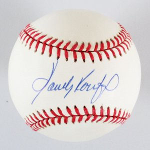 Sandy Koufax Signed Baseball Dodgers - COA JSA