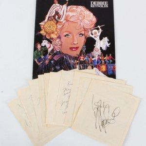 Celebrity Signed Lot (10) - LV Debbie Reynolds, Kenny Rogers etc. - COA JSA
