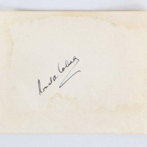 Ronald Coleman & Van Heflin Signed Album Page - COA JSA