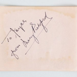 Mary Pickford & Leonid Kinskey Signed Cut Album Page - COA JSA
