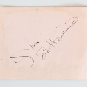 Olivia de Havilland & Lyn Wilde Signed Cut - COA JSA