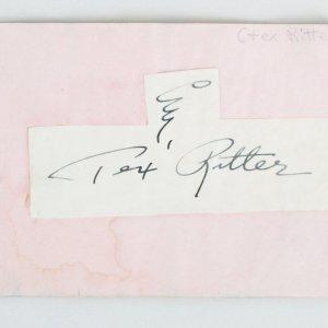 Tex Ritter & Dane Clark Signed Cut - COA JSA