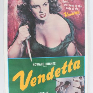1979 Re-Issue Of Vendetta Movie Poster One Sheet
