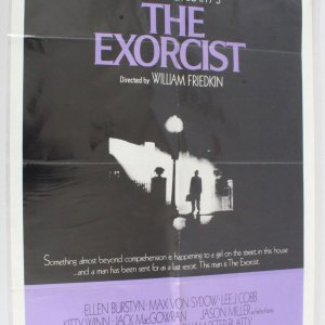 1974 Exorcist Movie Poster One Sheet 74/40