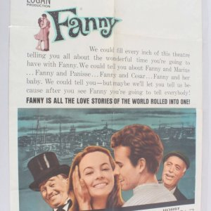 1961 Fanny Movie Poster One Sheet 61/168