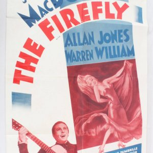 1962 The Firefly Movie Poster One Sheet R62/368