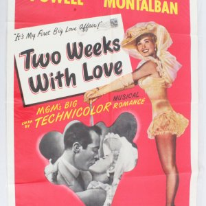 1950 Two Weeks With Love Movie Poster One Sheet 50/549
