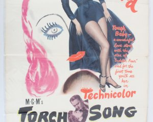 1953 Torch Song Movie Poster One Sheet 53/519