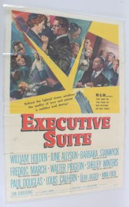 1954 Executive Suite Movie Poster One Sheet 54/36