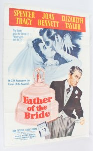 1962 Father Of The Bride Movie Poster One Sheet R62/327