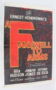 1958 Farewell To Arms Movie Poster One Sheet 58/19