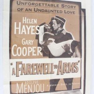 1949 Farewell To Arms Movie Poster One Sheet R49/660