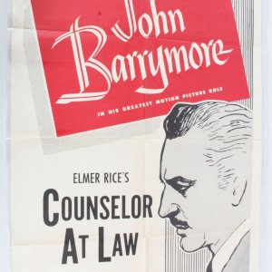 1953 Counselor At Law Movie Poster One Sheet R53/359