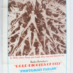 1970 Gold Diggers Of 1935 Movie Poster One Sheet R70/89