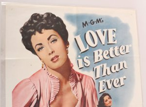 1961 Love is Better Than Ever Movie Poster One Sheet R62/42