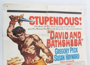 1961 David and Bathsheba Movie Poster One Sheet R60/117