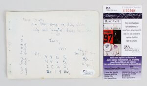 Maureen O'Hara Signed Cut Album Page - COA JSA