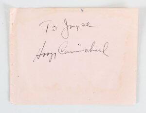 Hoagy Carmichael & Charles Boyer Signed Cut - COA JSA