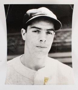 Joe DiMaggio Signed Cut W/ Vintage Photos (3) - COA JSA