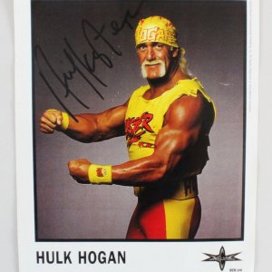 Hulk Hogan Signed Photo 8x10 WCW