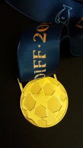 A Real Madrid C.F. UEFA Champions League Final Match Winning Player's Original Gold Medal