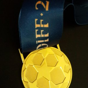 A Real Madrid C.F. UEFA Champions League Final Match Winning Player's Original Gold Medal