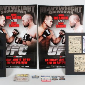 UFC Promo, Posters, Referee Fighter Credentials Lot