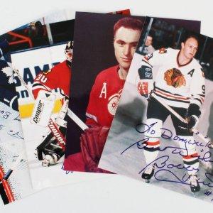 Belfour, Hull Signed Photos NHL Hockey  Lot (4) - COA JSA