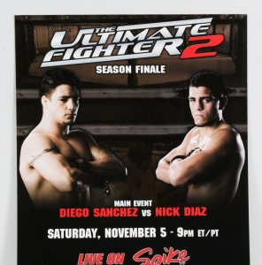 UFC Ultimate Fighter Poster Lot (2) w/ Fight Night Referee Credentials (3)