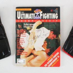 Big John McCarthy Signed Magazine UFC 3 w/ Prototype MMA Gloves