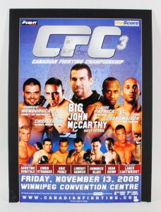 Big John McCarthy Signed Poster MMA Lot - COA JSA