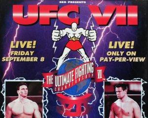 Oleg Taktarov Signed Poster UFC 7 Brawl in Buffalo SEG