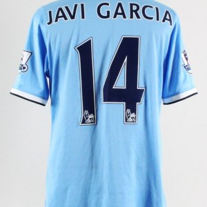 2014 Javi Garcia Game-Worn Jersey Manchester City F.C.
