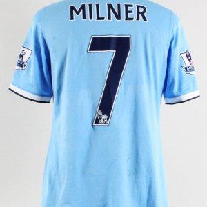 2014 James Milner Game-Worn Jersey Manchester City F.C.