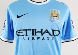 2014 James Milner Game-Worn Jersey Manchester City F.C.