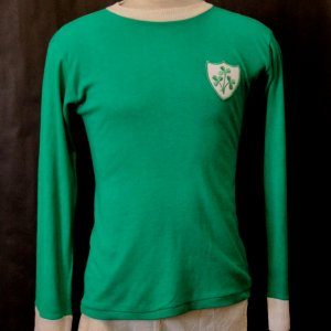 A Don Givens Game-Used #10 Ireland National Team Shirt & Shorts.  Circa 1960's / 1970's.