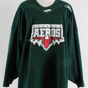 Derek Gustafson Game-Worn Practice Jersey Houston Aeros