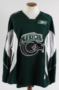 Derek Gustafson Game-Worn Jersey Houston Aeros COA 100% Authentic Team