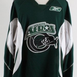 Derek Gustafson Game-Worn Jersey Houston Aeros COA 100% Authentic Team