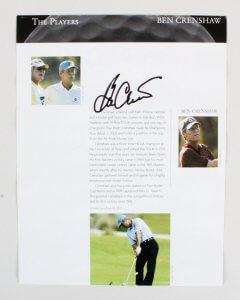 Arnold Palmer Signed Photo Ben Crenshaw - COA JSA