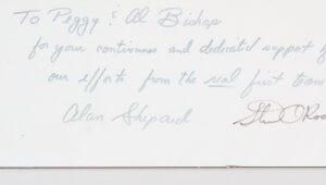 Apollo 14 Signed Photo (3) w/ Alan Shepard  - COA JSA