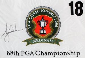 Tiger Woods Signed Golf Flag - COA JSA