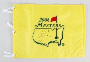 Tiger Woods Signed Masters Flag Golf 2006 - COA JSA