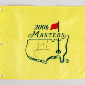 Tiger Woods Signed Masters Flag Golf 2006 - COA JSA