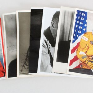 Political Space & Military Signed Photo Lot (8) - COA JSA