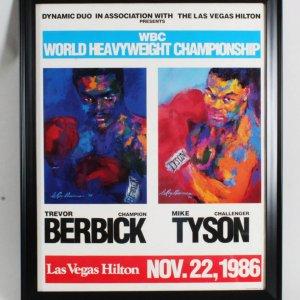 WBC Championship Mike Tyson vs. Trevor Berbick Fight Poster
