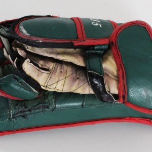 Derek Gustafson Game-Used Hockey Blocker Houston Aeros