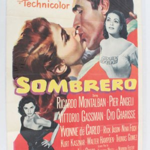 1953 Sombrero Movie Poster One Sheet 53/35