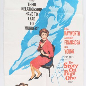 1959 The Story On Page One Movie Poster One Sheet 60/15
